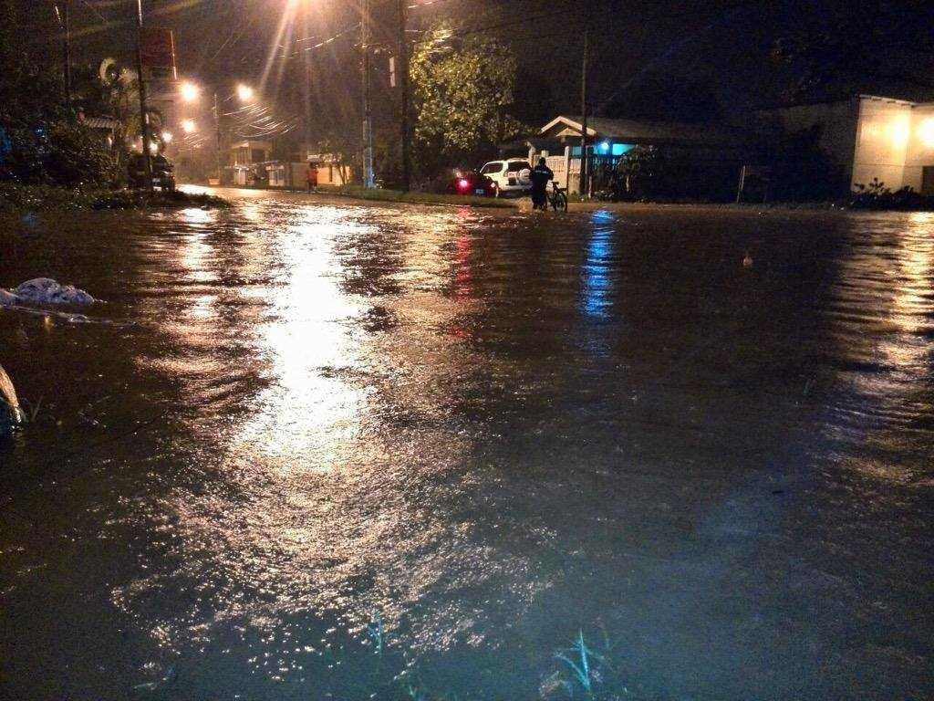 Inundaciones preocuparon en La Ceiba