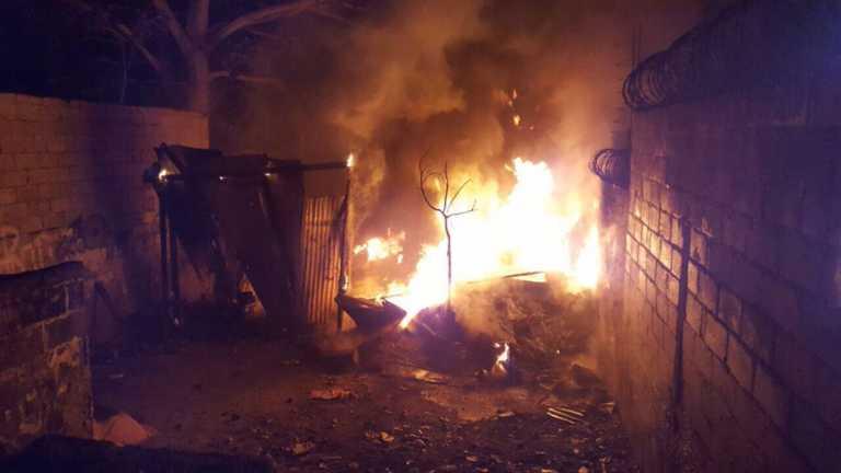 Se incendia taller de reparación de carros en San Pedro Sula