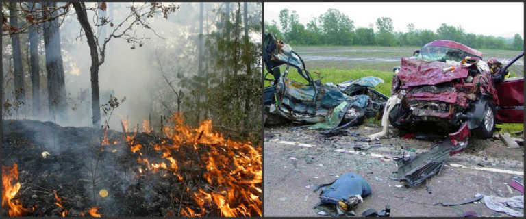 Alarmantes cifras de incendios y accidentes de tránsito en el país