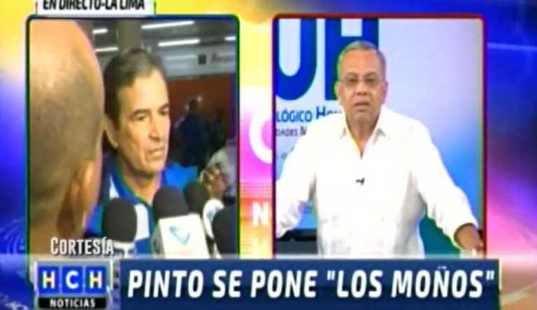 Fuerte cruce de palabras entre Jorge Luis Pinto y periodista de HCH