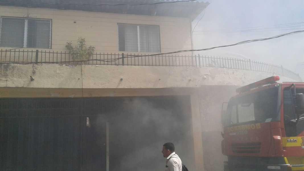 Incendio en empresa de seguridad