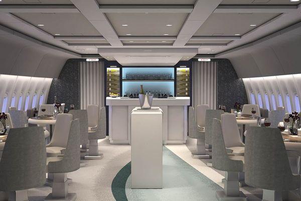 El restaurante dentro los cruceros de lujo.