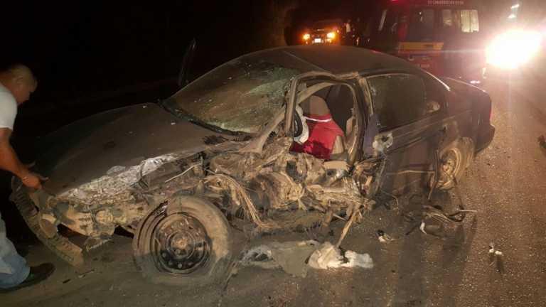 Bomberos auxilian a heridos tras fuerte accidente en Catacamas
