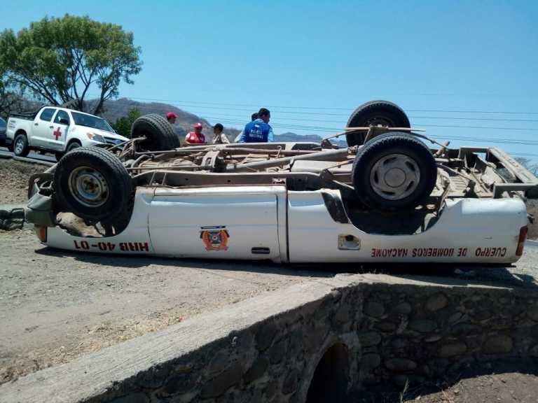 Nacaome: Unidad de Bomberos de accidenta en carretera Panamericana