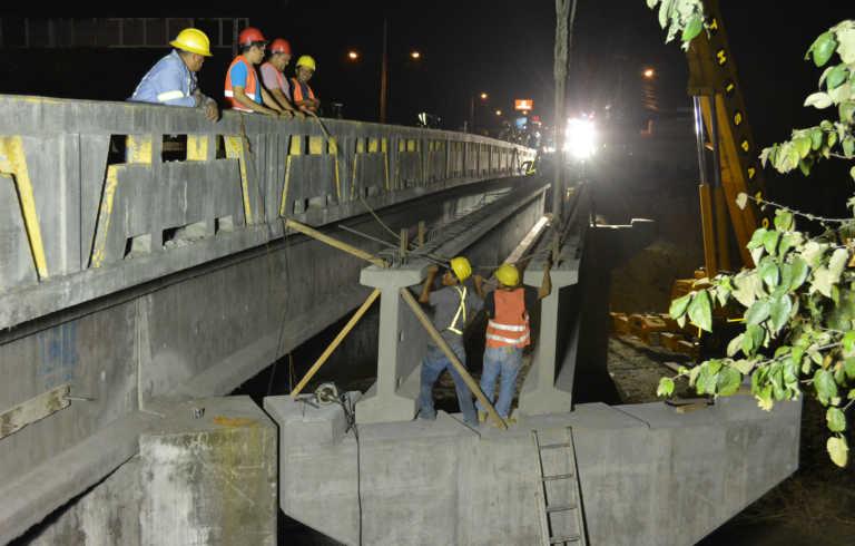 Aceleran construcción de puente sobre Río Piedras en San Pedro Sula