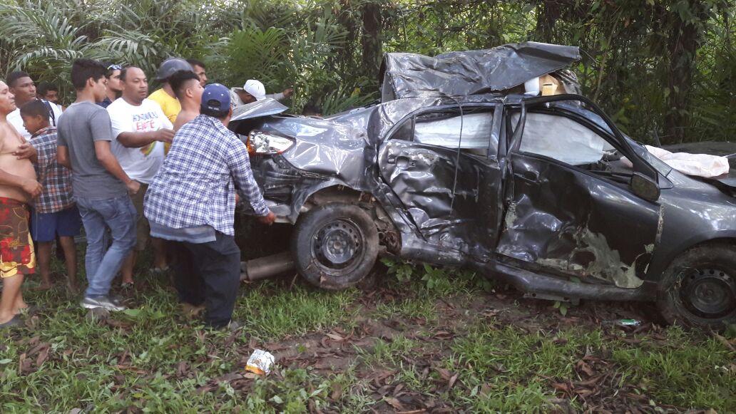 accidente vehicular en entrada de lancetilla