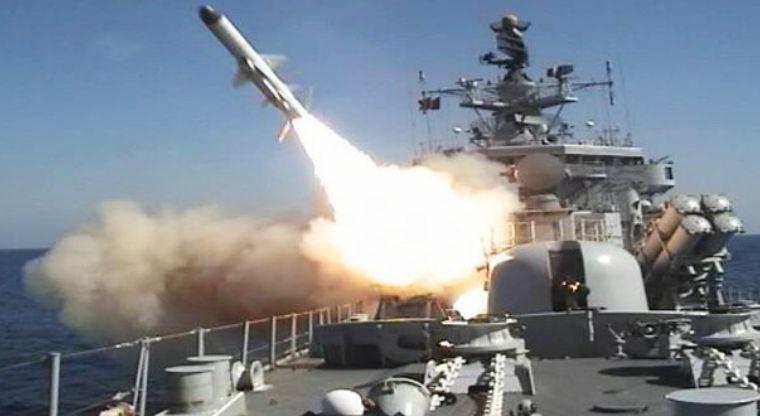 Momento en que misil fue lanzado a Siria