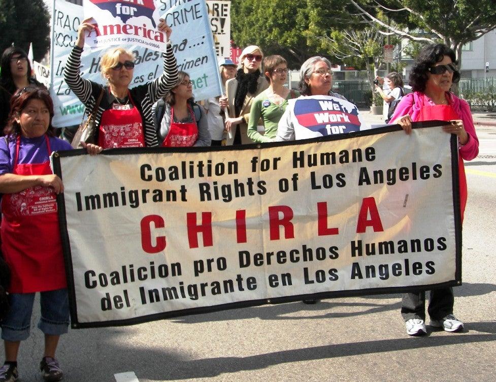Chirla (Coalición pro Derechos Humanos del Inmigrantes en Los Ángeles).