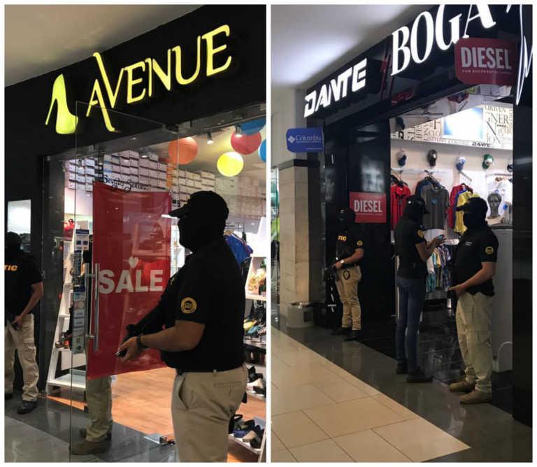 Aseguran reconocidas tiendas en centros comerciales de SPS