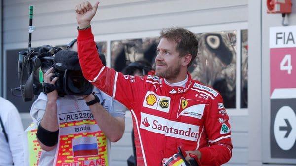 Sebastian Vettel obtuvo la pole position para el Gran Premio de Rusia de Fórmula 1