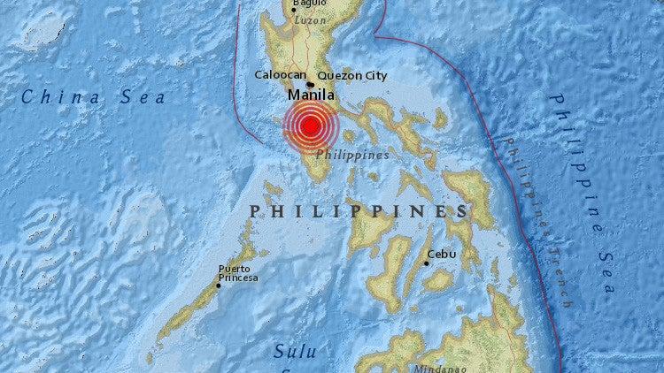 Sismo de 5.2 sacude la capital de Filipinas