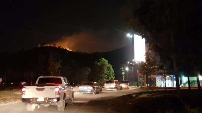 Bomberos estuvieron en acción más de 2 horas por incendio en cerro «Zizima»