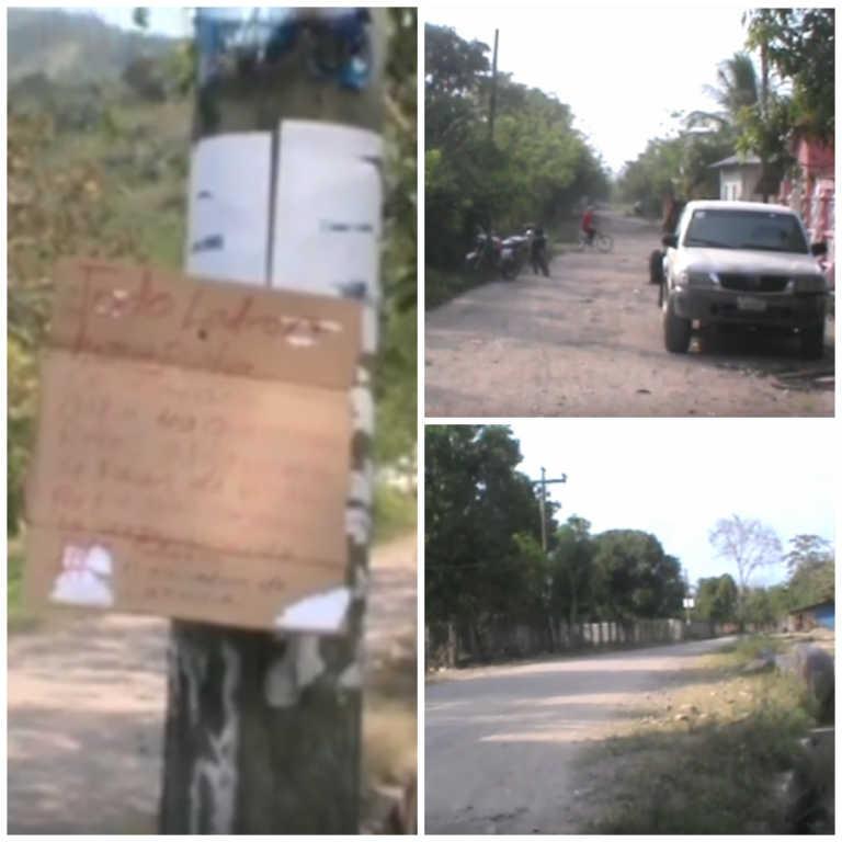 «No queremos ratas aquí»; dejan cartel en Tocoa, Colón
