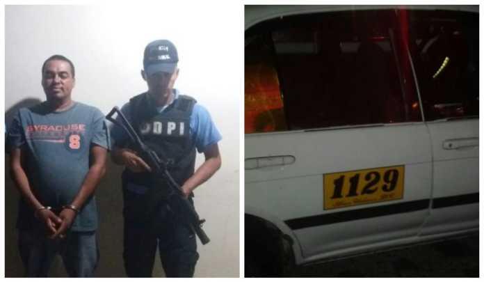 Taxista en Tegucigalpa