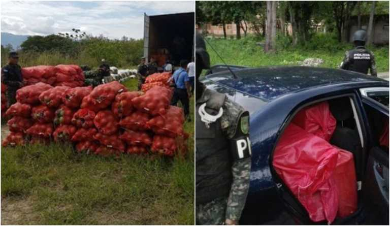 Más de 200 sacos de repollo y 500 paquetes de cigarros decomisados en Copán