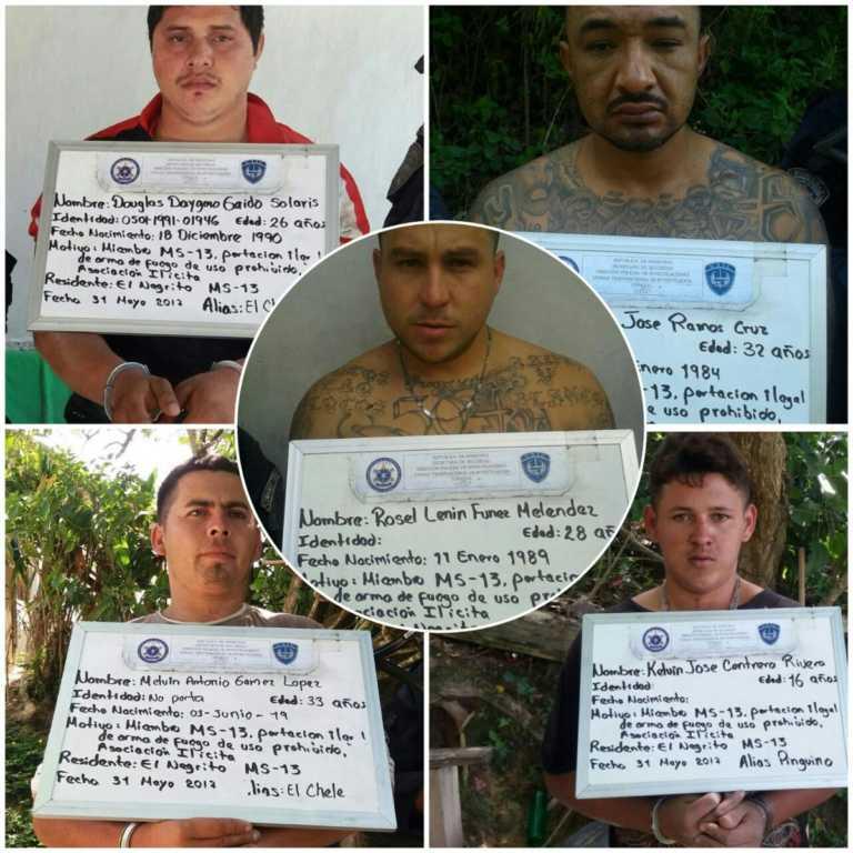 Nueve pandilleros capturados durante operativo en Yoro