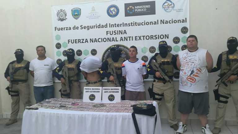 Capturan a cuatro supuestos extorsionadores en Tegucigalpa