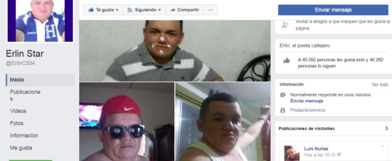 Más de 46 mil seguidores tiene la página de Erlin Carranza, hondureño que saltó a la fama