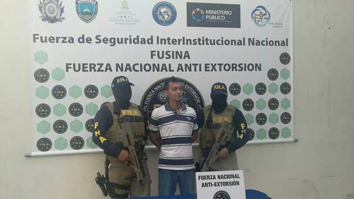 FNA captura a presunto extorsionador en Tegucigalpa