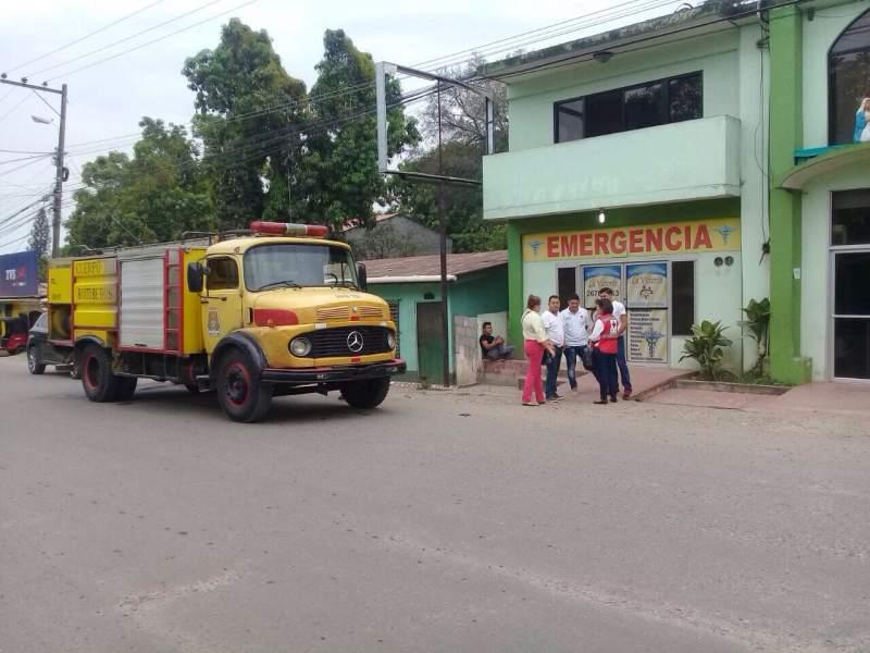 Clínica de Villanueva donde murió el joven bombero