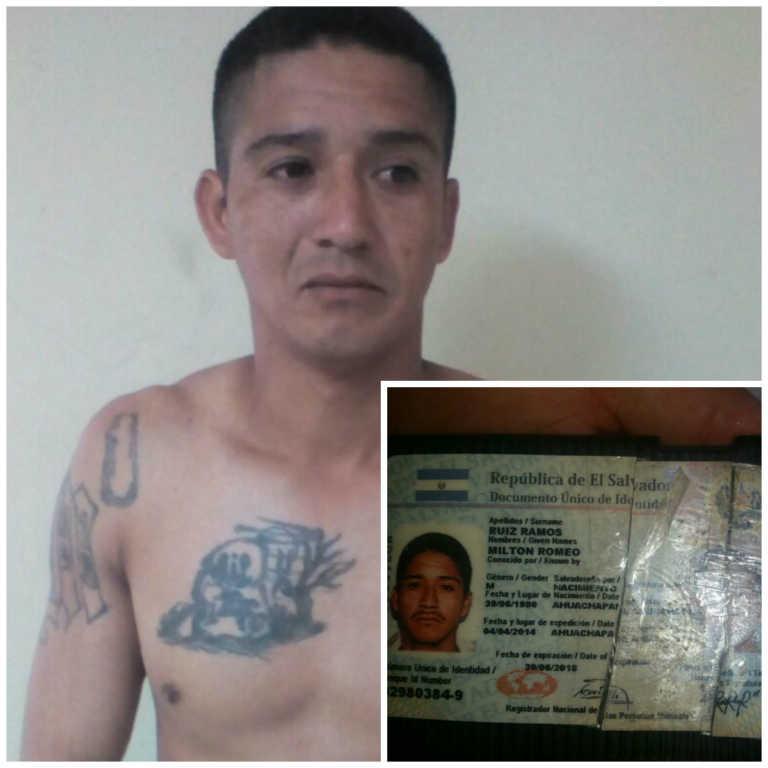 Policía detiene en frontera a integrante de la MS-13 de El Salvador