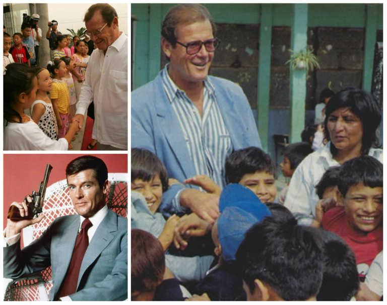 Roger Moore estuvo en Honduras;  fue un ejemplo de labor humanitaria