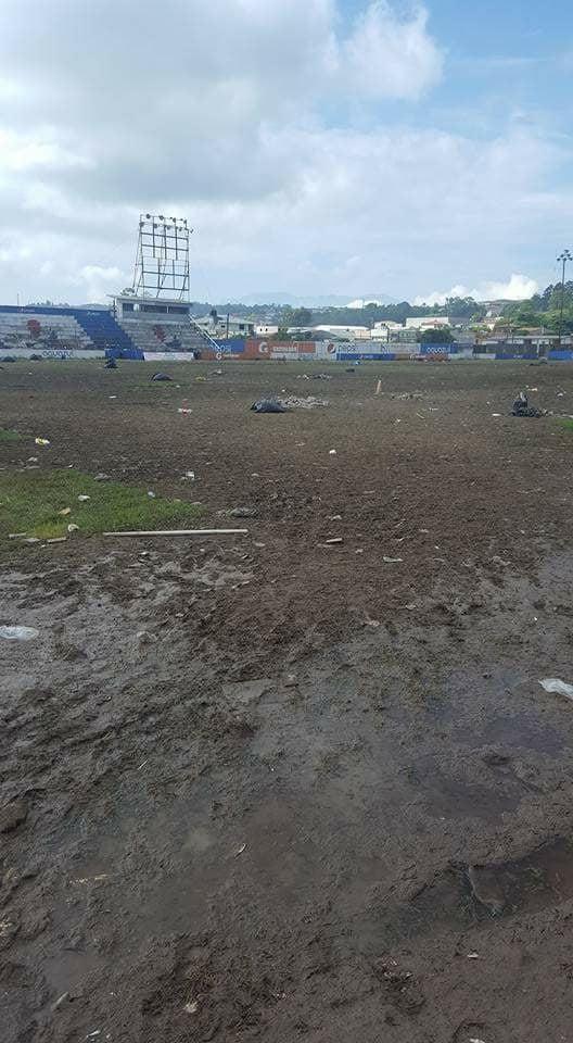 ¡Devastado el estadio Sergio Reyes tras jornada religiosa!