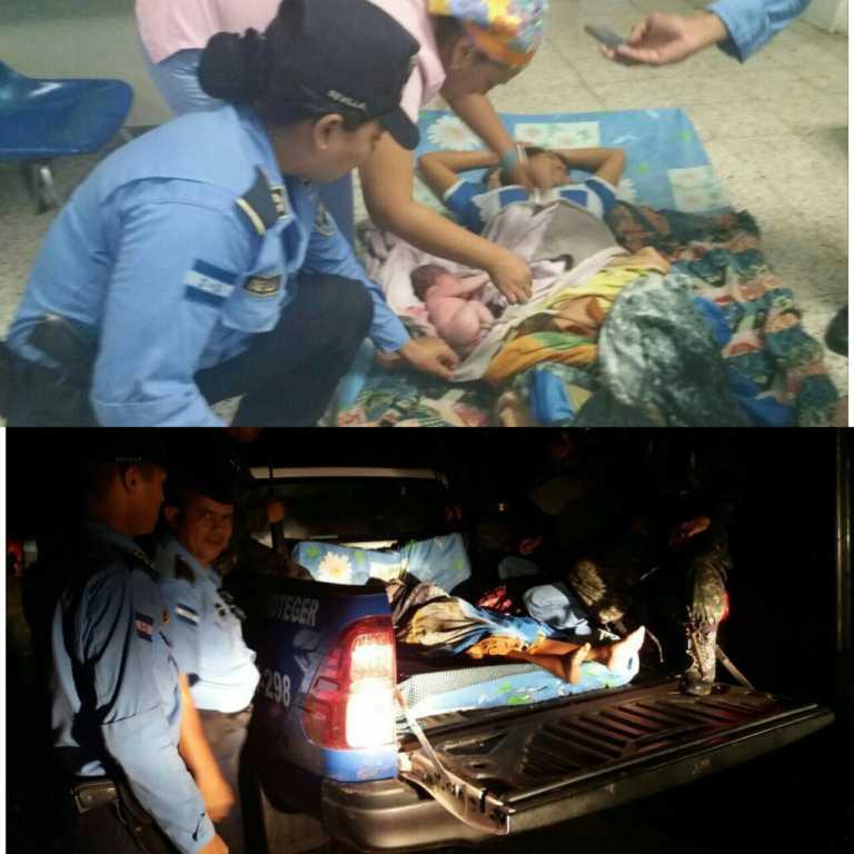 Comayagua: Agente policial atiende parto de mujer en una patrulla