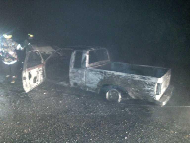 Comayagua: Encuentran vehículo quemado y una pistola en su interior
