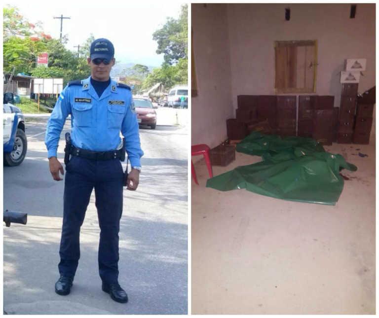 Mujer y policía encontrados asesinados dentro de billar en Omoa