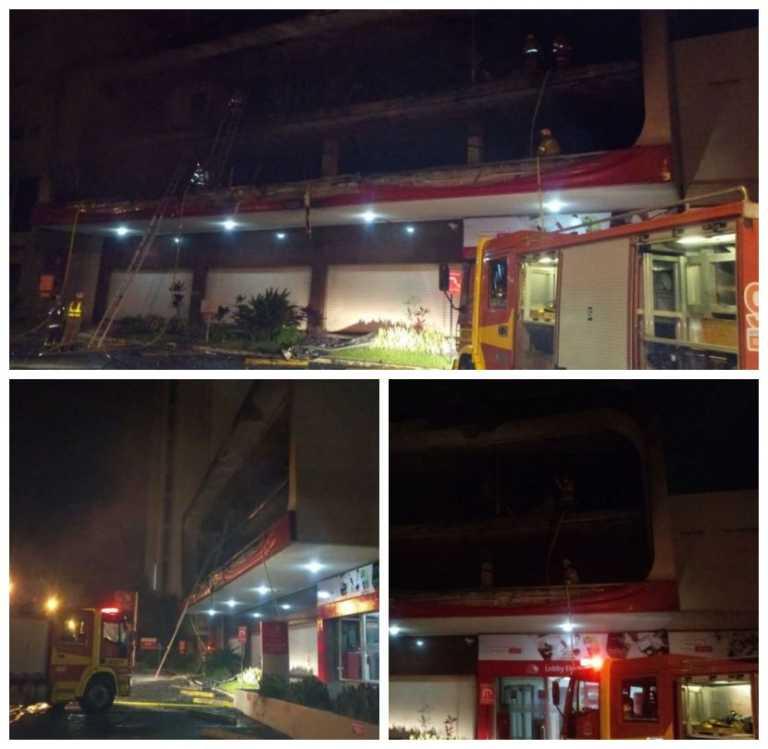 Tegucigalpa: Voraz incendio en agencia de BAC Credomatic