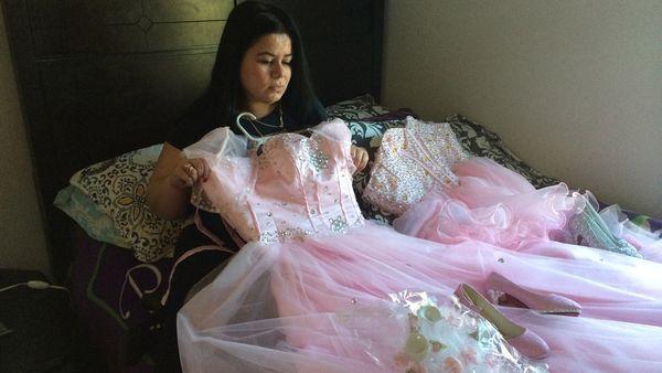 El vestido que Damaris usaría al cumplir 15 años.