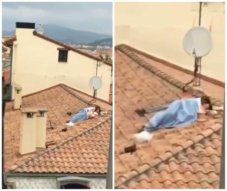 Captan pareja teniendo relaciones sexuales sobre techo en España