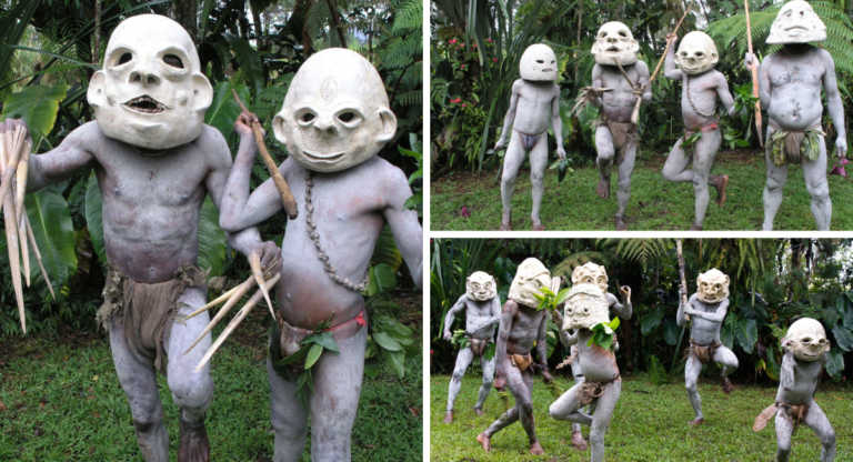 """Conoce a """"Mud Men"""" la terrorífica tribu de Nueva Guinea"""