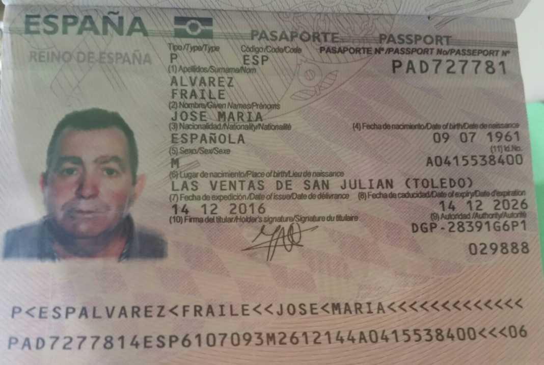 cuerpo sin vida de ciudadano español
