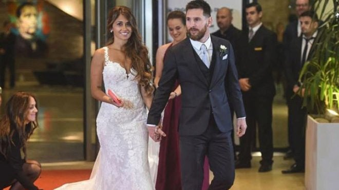 Revelan cual fue el total de la donación de los invitados a la boda de Messi