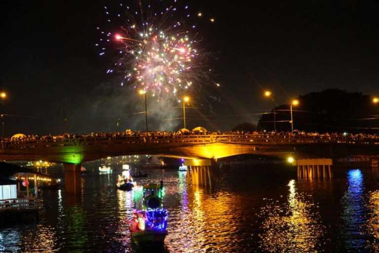 Noche Veneciana: con música y góndolas coloridas cierran feria en Puerto Cortés
