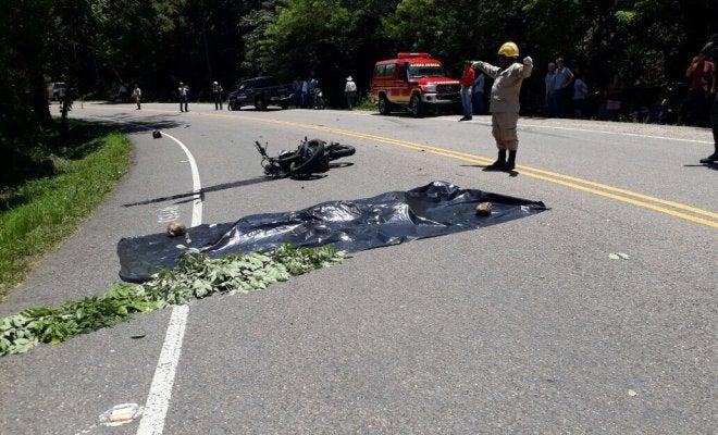 Motociclista muere al ser atropellado por vehículo del estado en Lempira