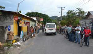 Escena del crimen en La Jigua, Copán.