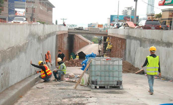 El túnel del bulevar Centroamérica