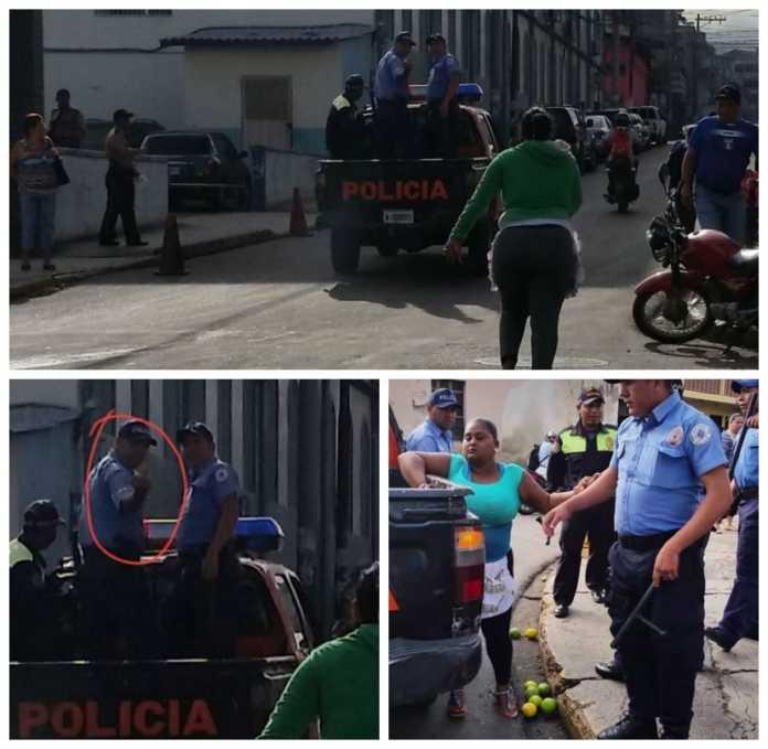 policías municipales en Tegucigalpa