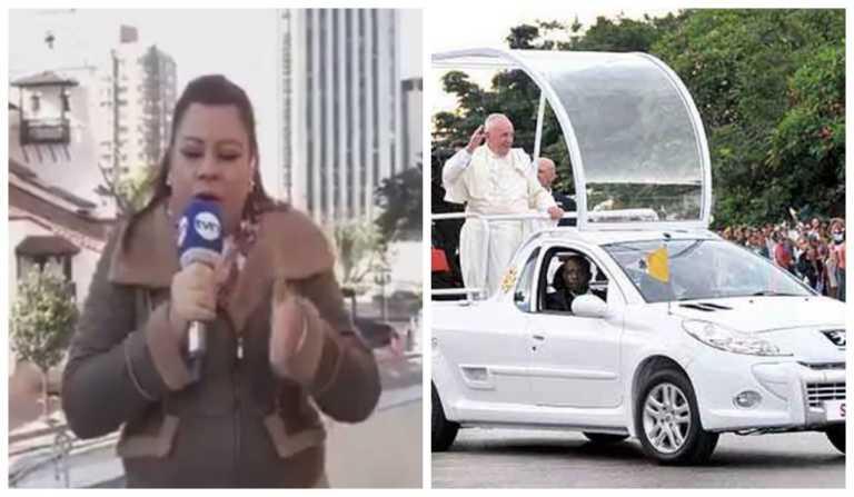 """Periodista confunde el papamóvil con el """"batimóvil"""""""