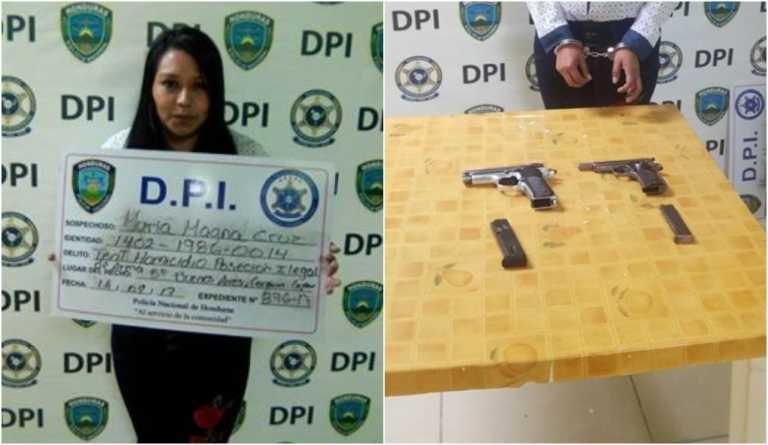 Capturan mujer con dos pistolas por intento de asesinato en Copán