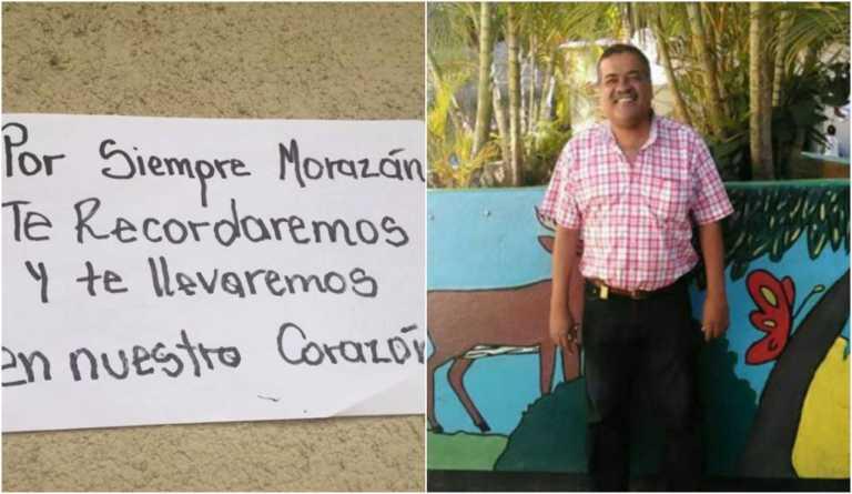 Tapizan Técnico Honduras con mensajes de aprecio para profe asesinado