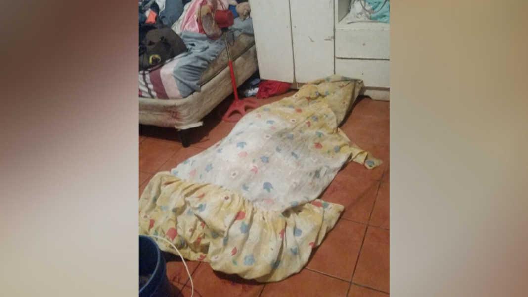 mujer agonizando en La Ceiba