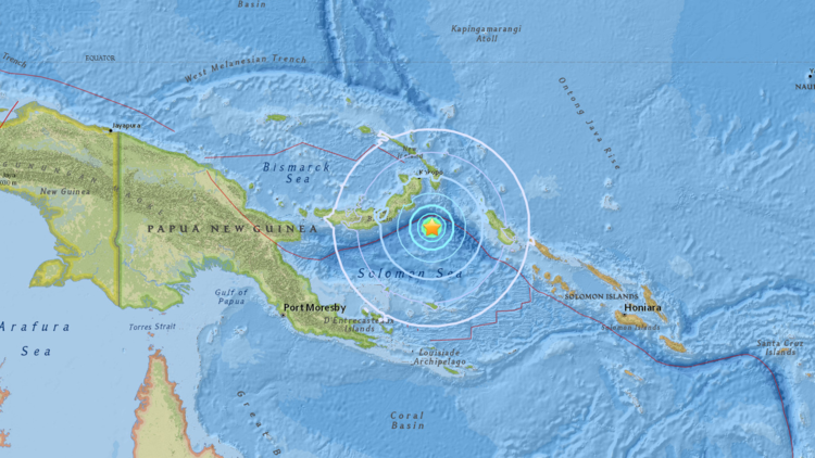 Terremoto de 6,0 grados se produce cerca de Papúa Nueva Guinea