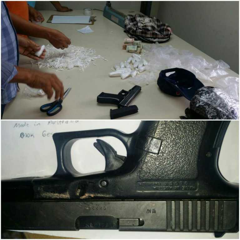 Tegucigalpa: Dispara contra la Policía y lo capturan con más de mil puntas de cocaína