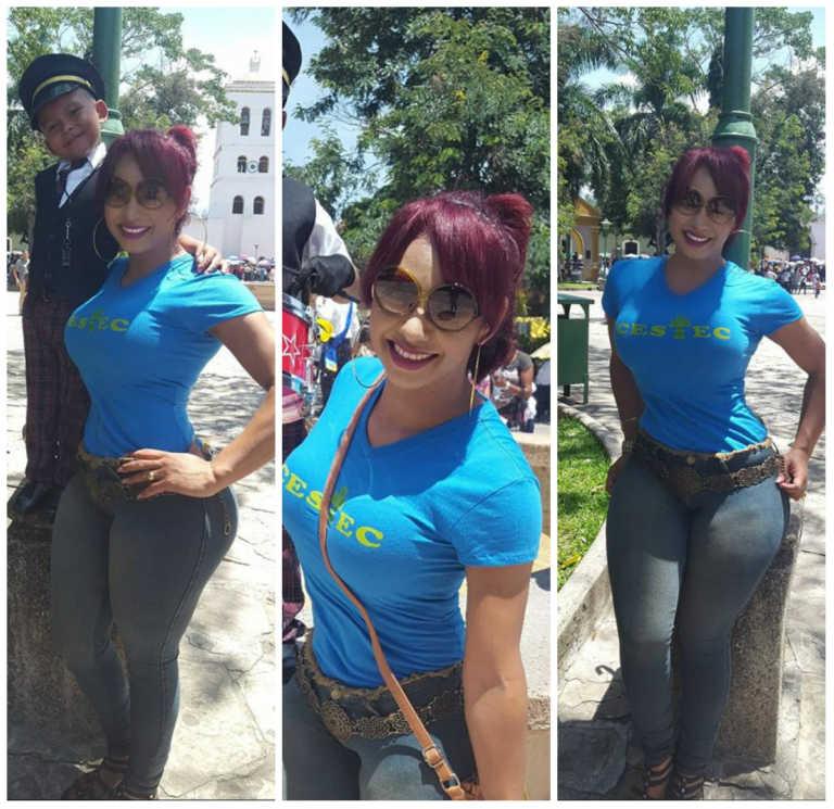 """La guapa madre que """"enamoró"""" a muchos en desfiles patrios en Honduras"""