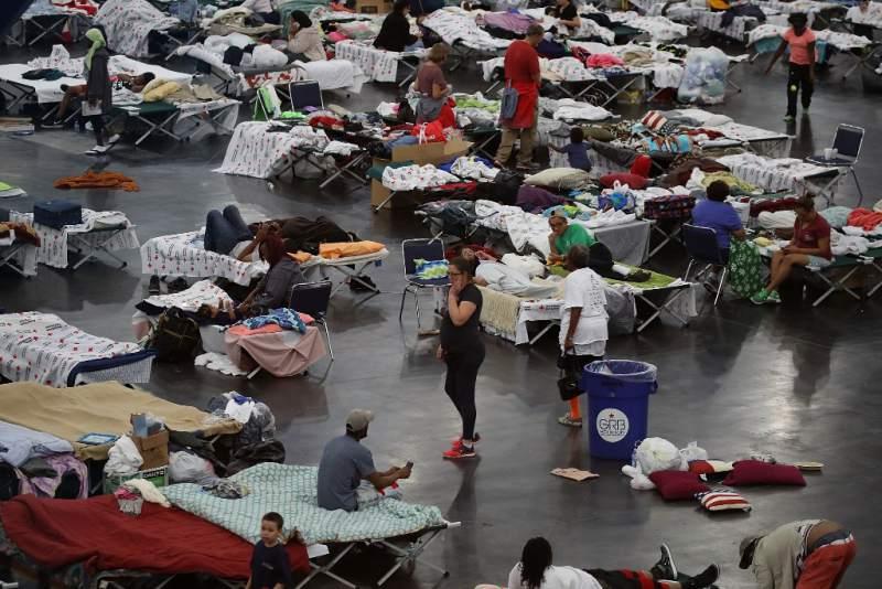 familias hondureñas afectadas por huracan Harvey