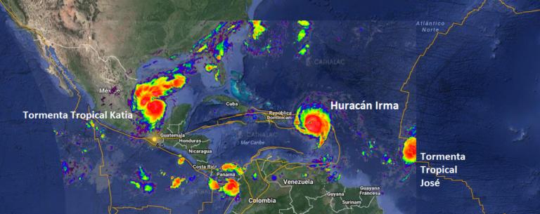 ¡Preocupante! Se forma tormenta tropical Katia frente a la costa de México